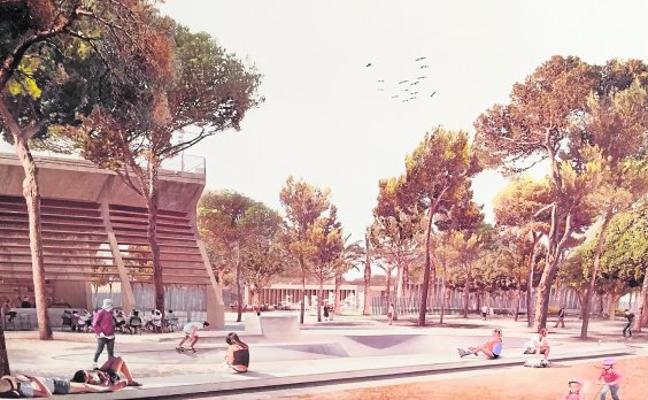 El Parque Almansa tendrá un teatro de 600 plazas rodeado de pinos y fuentes
