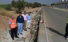 Fomento reconstruye los taludes dañados en la carretera de Avileses a Pozo Aledo