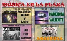 Los viernes de agosto la Plaza del Arco acoge actuaciones musicales gratuitas