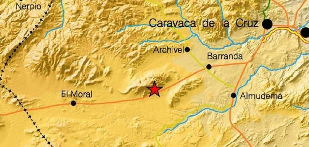 Registrado un terremoto de magnitud 2,5 al suroeste de Caravaca