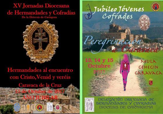 Los cofrades de toda la diócesis peregrinan a Caravaca de la Cruz