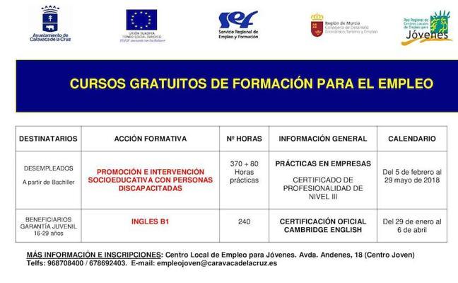Abierto el plazo de inscripción en los cursos 'Inglés B1' e 'Intervención socioeducativa con personas con discapacidad'