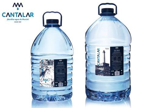 Agua de Cantalar completa su renovación de marca con las garrafas de 5 y 8 litros