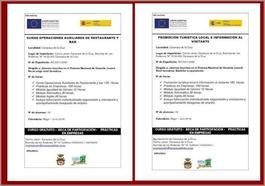 Abierto el plazo de solicitud de matrícula en los cursos 'Promoción turística e información al visitante' y 'Operaciones de restaurante y bar'