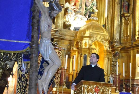El sacerdote Saúl Sánchez pregonó la Semana Santa