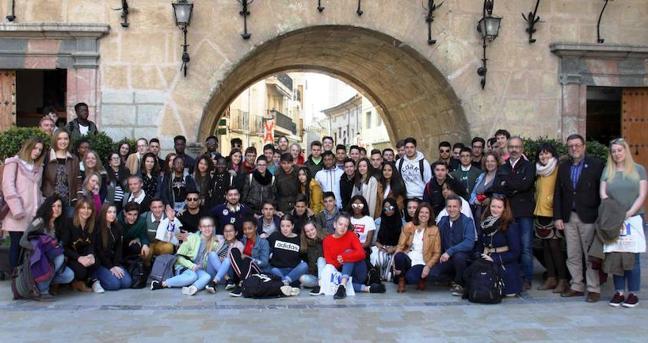 Caravaca acoge un encuentro 'Erasmus+', con más de 60 alumnos del IES Chirinos e institutos ingleses y holandeses