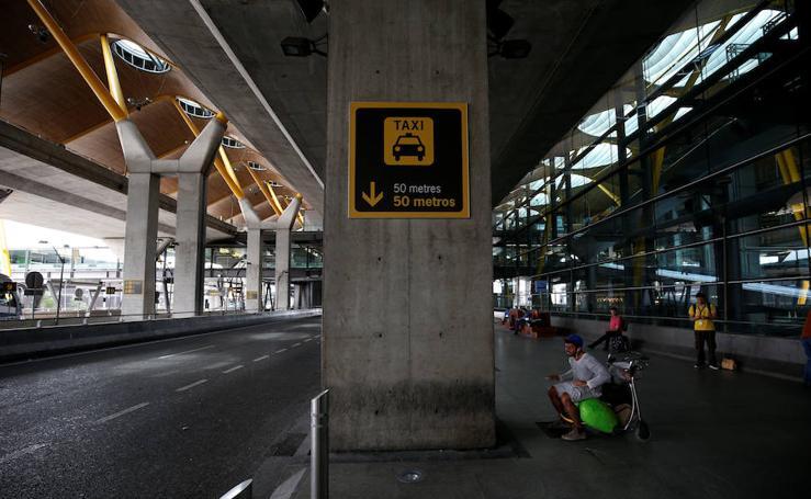 La huelga de los taxistas de toda España, en imágenes