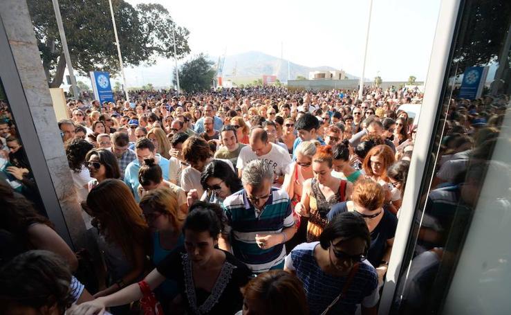 Las oposiciones municipales abarrotan el Campus de la Muralla del Mar en Cartagena