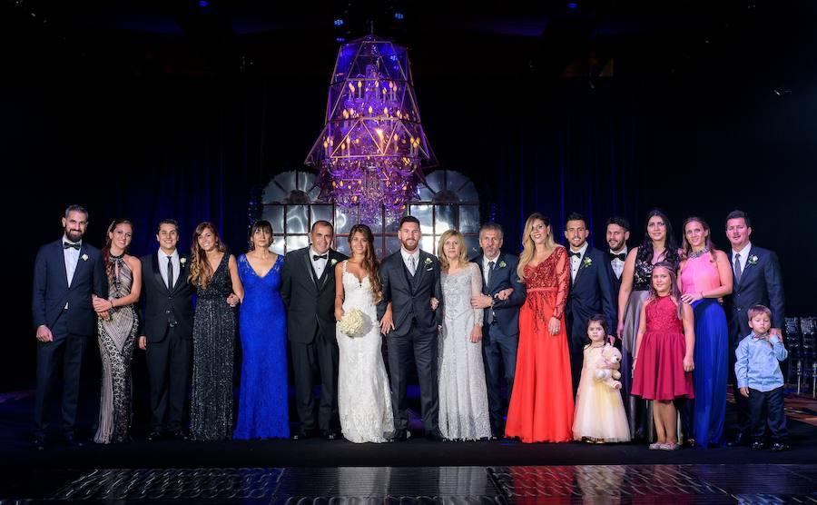 Desfile de estrellas en la boda de Messi y Antonella