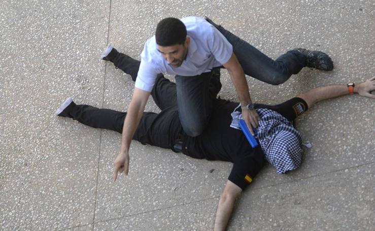 Simulacro de un ataque terrorista en la UPCT