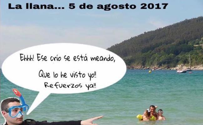 Los murcianos tiran de humor para afrontar las prohibiciones en las playas de San Pedro