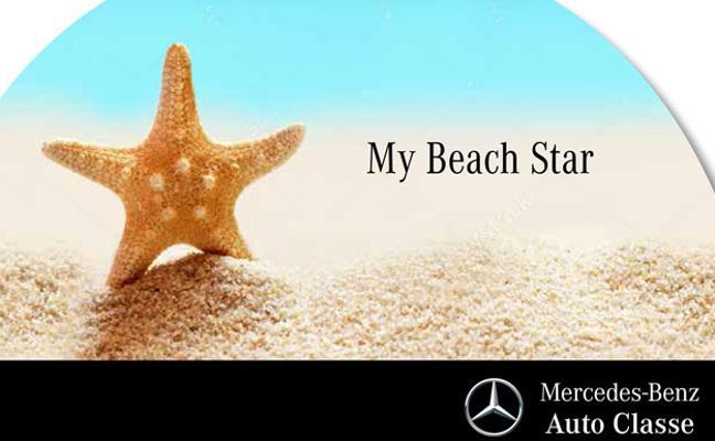 La estrella de Mercedes, protagonista en la playa