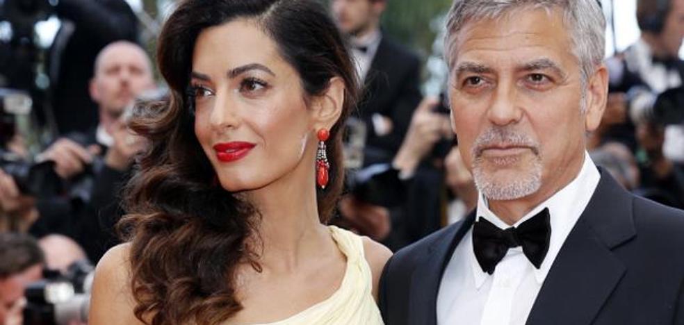 Los mellizos de George Clooney ya conocen Milán