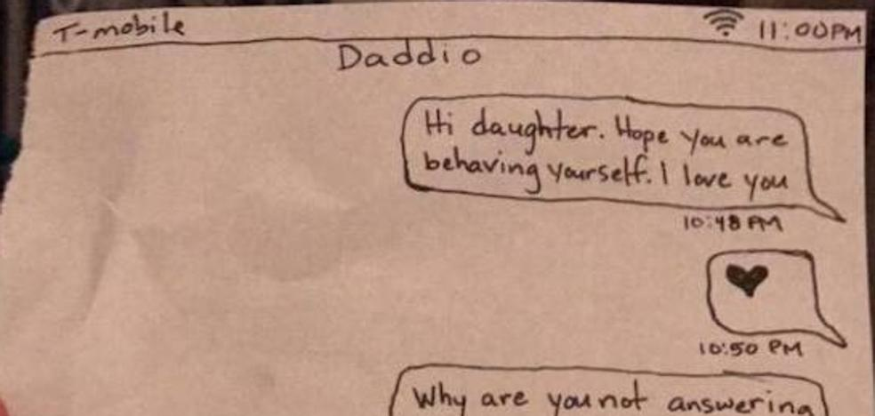 Un padre se cachondea de su hija después de castigarla
