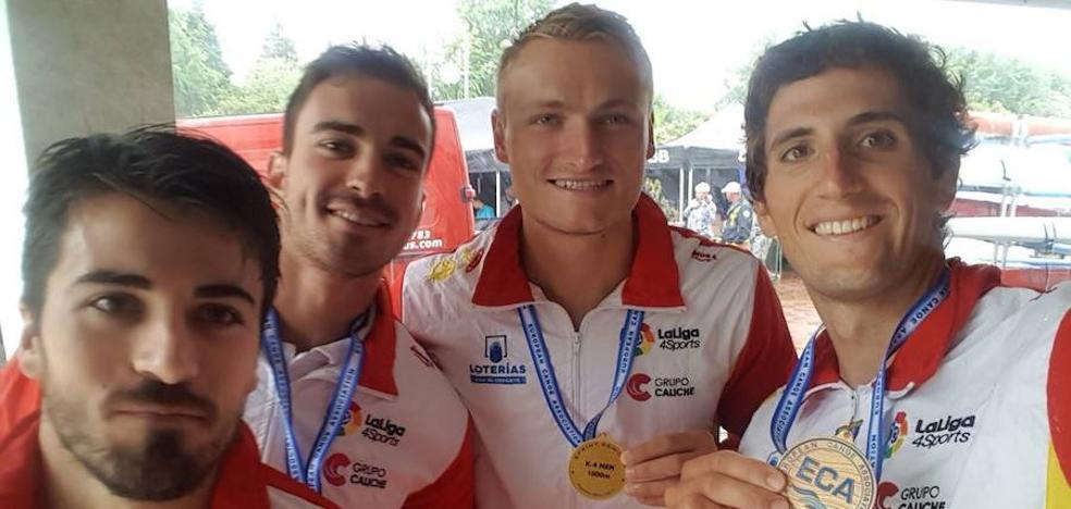 El K4 1.000, primer oro para España en el Campeonato de Europa