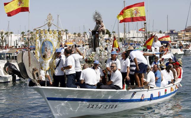 Salves marineras en San Pedro para la patrona de los pescadores