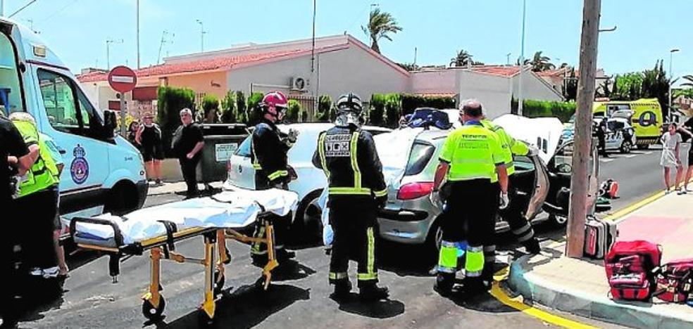 Herida grave en un choque en Lo Pagán