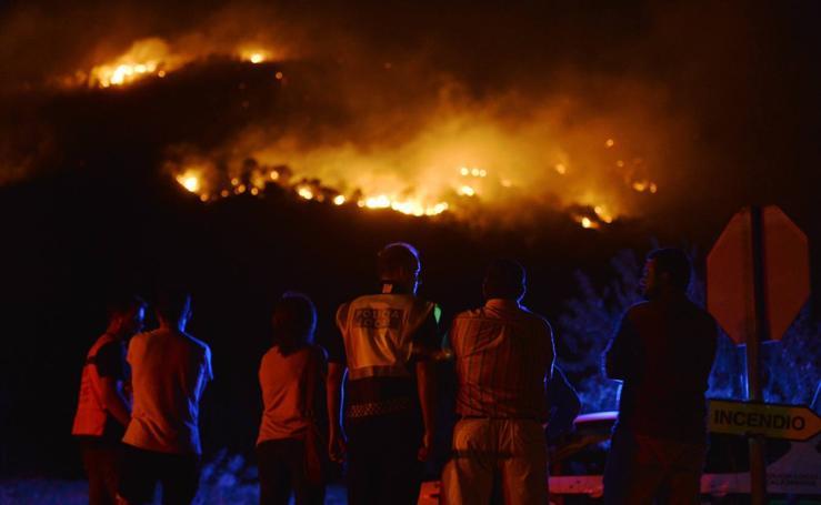 Incendio en la sierra de San Miguel, en Calasparra