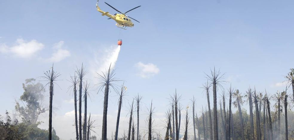 Un incendio en Molina moviliza dos helicópteros