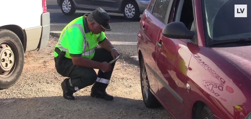 400 euros de multa por llevar un neumático en mal estado