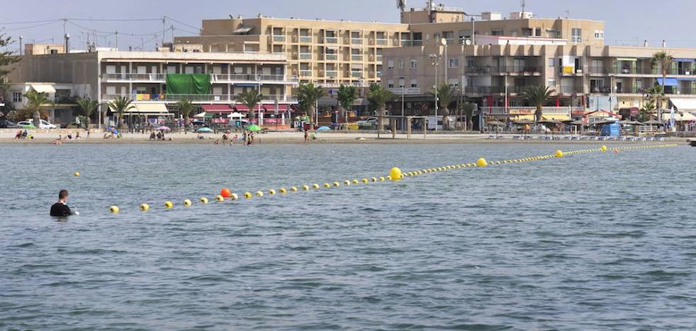 Una web permite comprobar el nivel de transparencia de las aguas del Mar Menor
