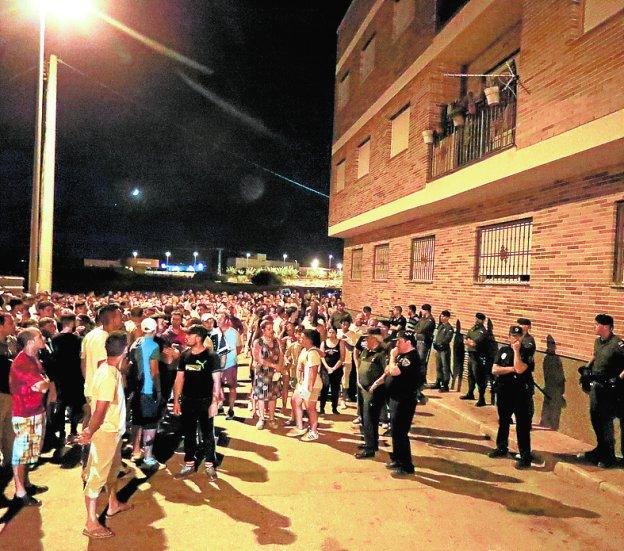 La protesta del pasado viernes por la noche.