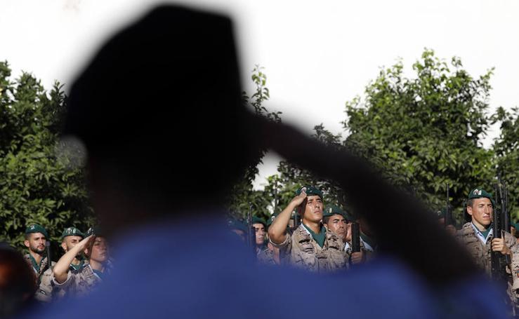 Relevo del jefe del Escuadrón de Zapadores Paracaidistas en Alcantarilla