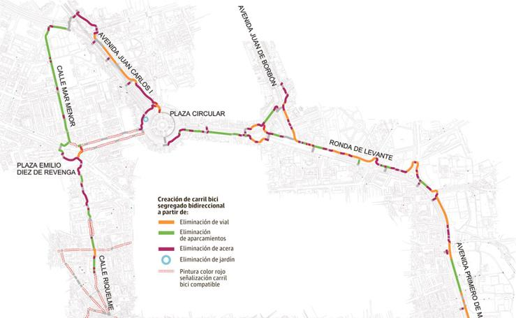Carriles bici de Murcia