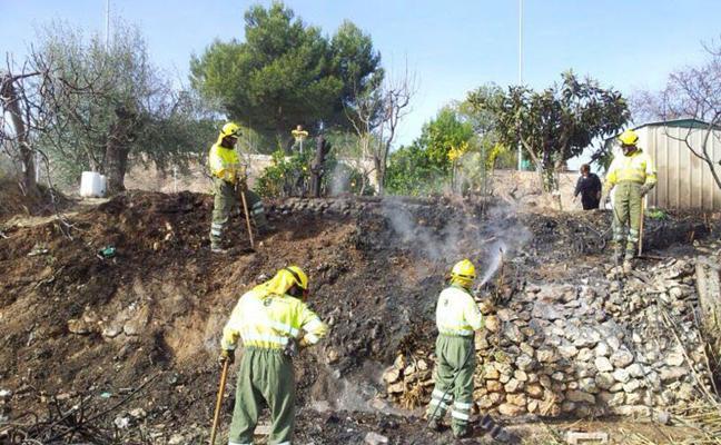 El concejal exige más medios en el retén contra los incendios en Sierra Espuña