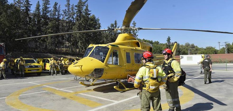 Intensa actividad de los helicópteros de Infomur