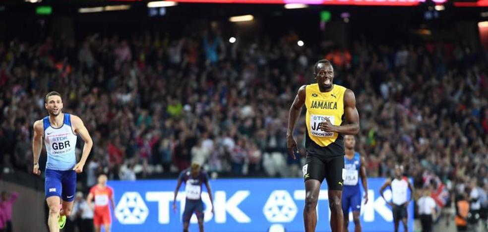 Bolt se rompe en su despedida