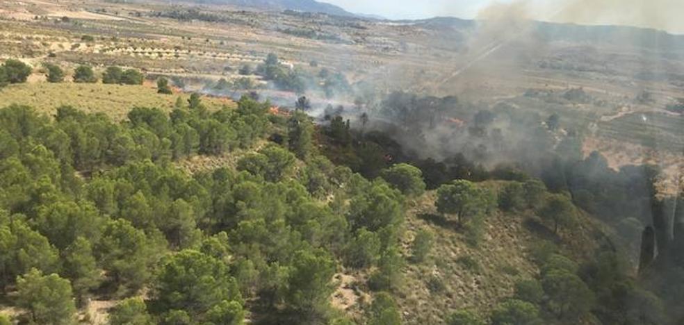 Controlado el incendio en la Sierra del Carche en Jumilla