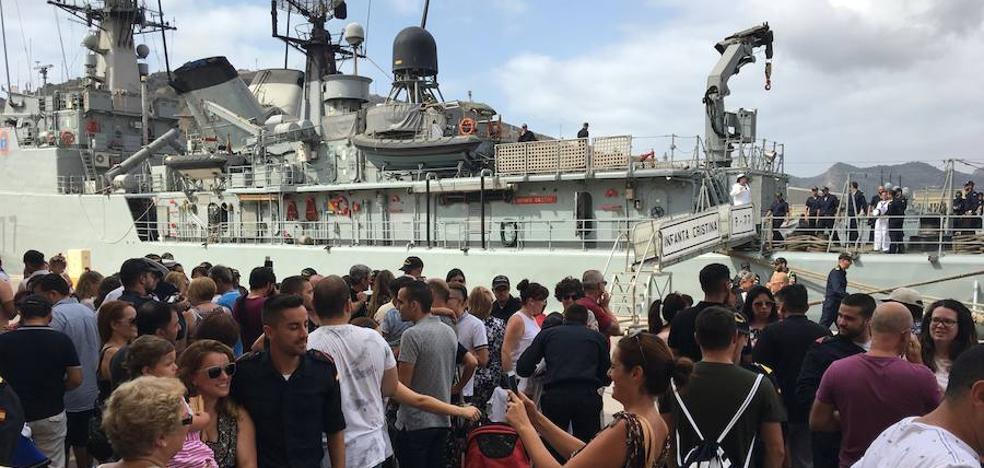 El 'Infanta Cristina' ayudará a hacer frente a la piratería marítima en el golfo de Guinea