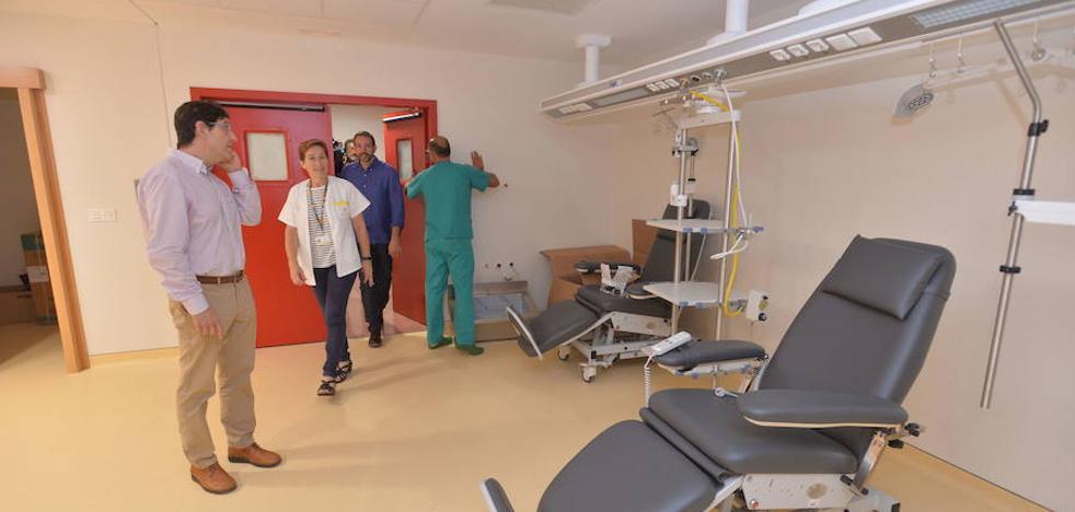 Los nuevos quirófanos y paritorios del Rafael Méndez funcionarán en un mes