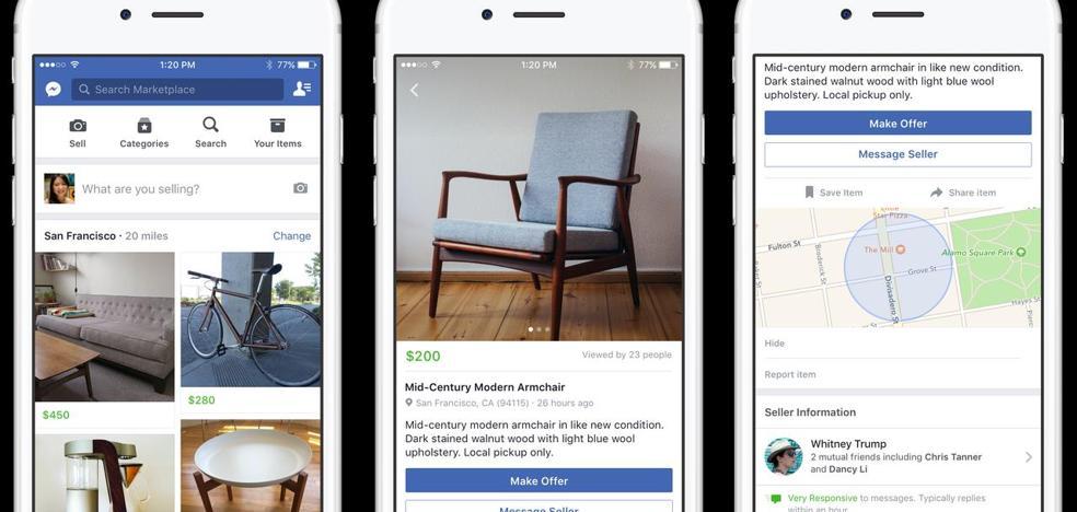 Facebook presenta su propio 'Wallapop'