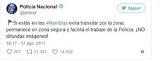 Twitter responde 'a la belga' a la petición policial de no publicar imágenes sobre el atentado
