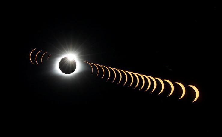El eclipse total de Sol, en imágenes