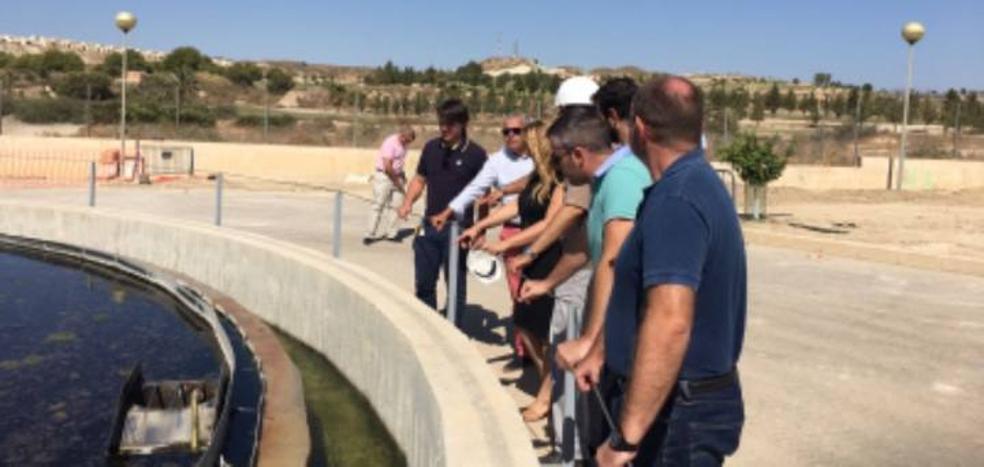 Agricultura invierte 775.000 euros en mejorar la depuradora de Camposol en Mazarrón
