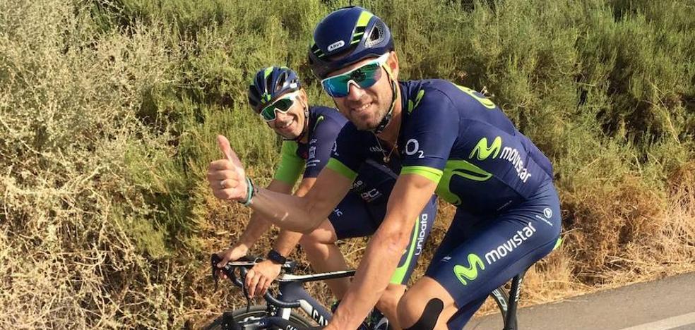Valverde vuelve a montar en bicicleta