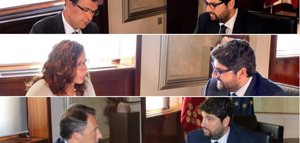 Los tres grandes municipios de la Región preparan con la Comunidad el inicio del curso político