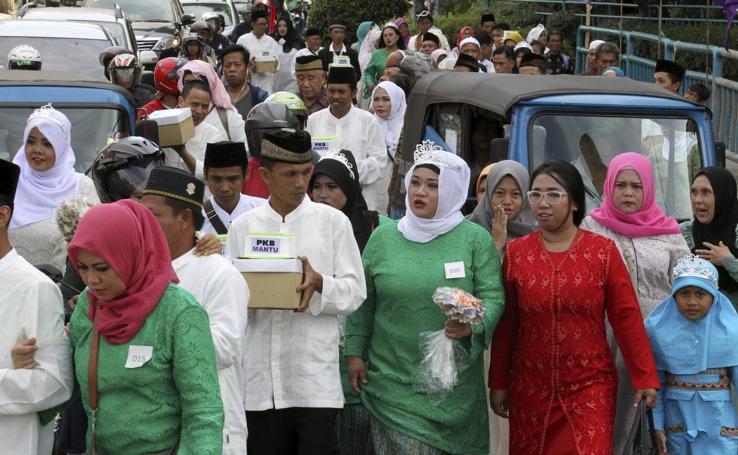 Boda múltiple en Yakarta