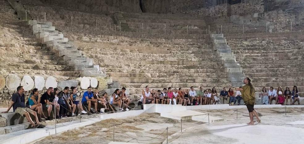 El número de visitas al Teatro Romano crece un 14% en agosto