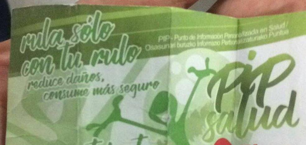 Polémica en Bilbao por unas tarjetas que recomiendan «picar bien» la cocaína