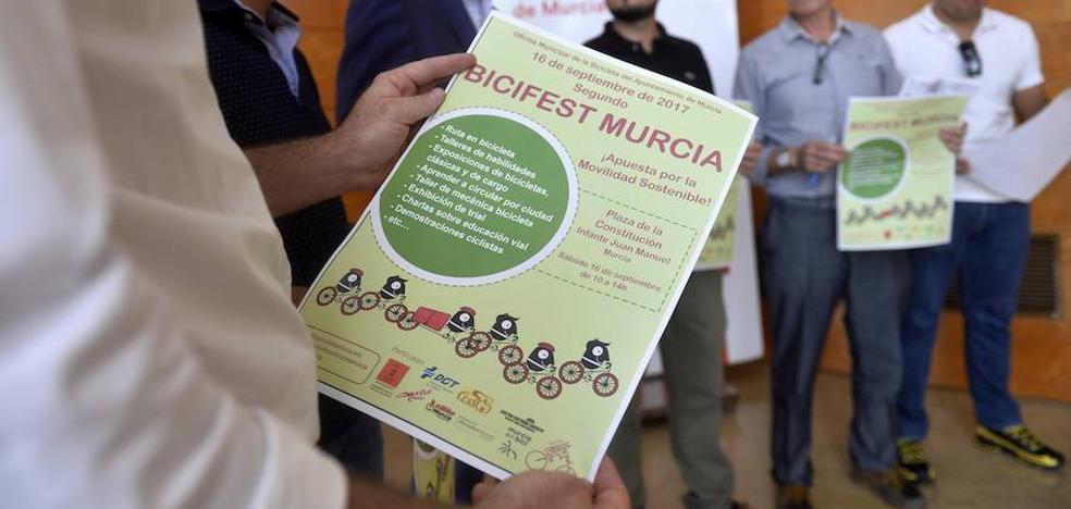 Rutas, talleres y exhibiciones durante la segunda edición del Bicifest en Murcia