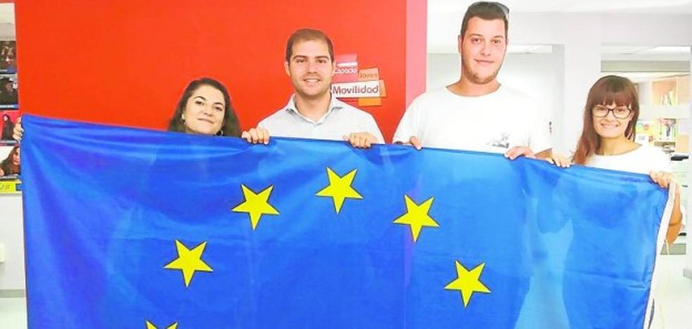 Cuatro cartageneros, en el voluntariado europeo