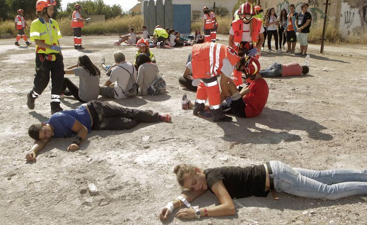 Lorca, escenario del mayor simulacro de terremotos y riadas de España