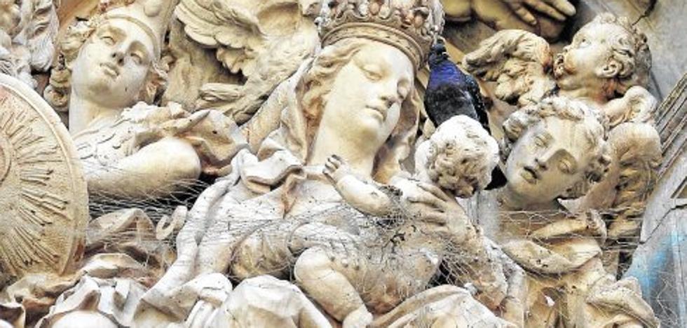 Las palomas campan sobre el patrimonio