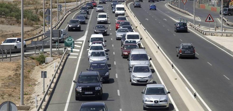 El tráfico en la entrada a La Manga se mantendrá desviado hasta el 18 de noviembre