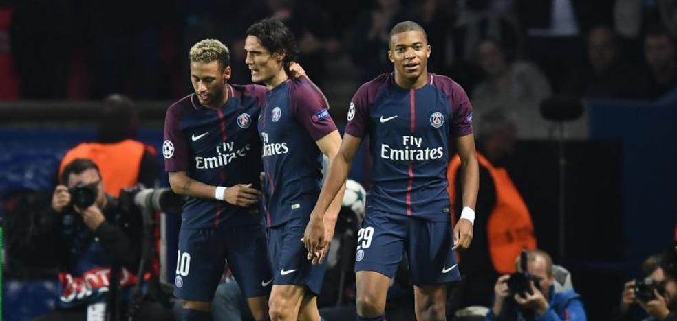 Neymar, Cavani y Mbappé exhiben el poderío del PSG