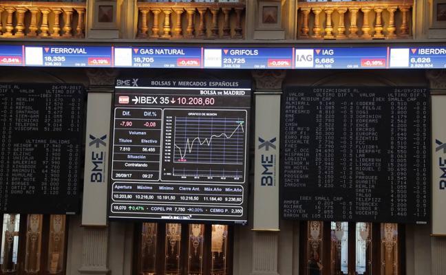 El Ibex, con un recorte, cierra otra vez como el peor índice del día